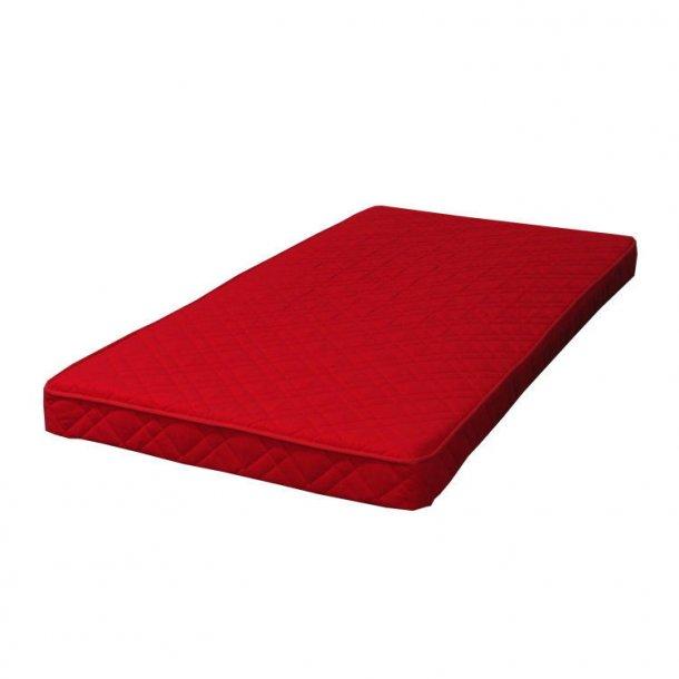 Springmadras 90x200 cm rød.
