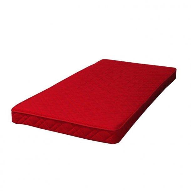 Skummadras 90x200 cm rød.