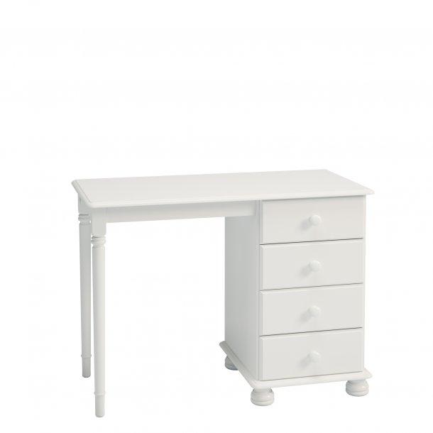 Richard skrivebord 4 skuffer hvid.
