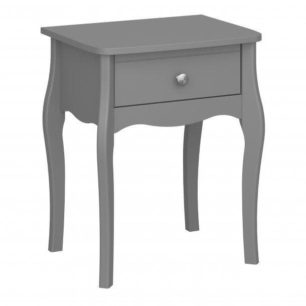 Baroque natbord 1 skuffe grå.