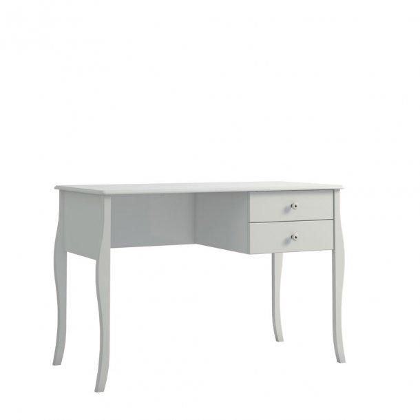 Cher skrivebord med 2 skuffer hvid.