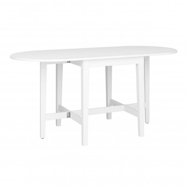 Toppen Venny matbord hopfällbart bord 66x75/166 cm, vitlackerad. Fri NX-54