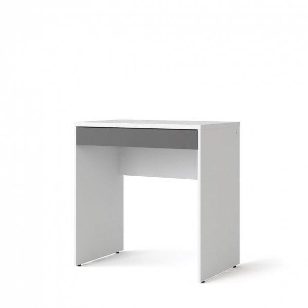 Fula skrivebord 1 skuffe hvid og grå.