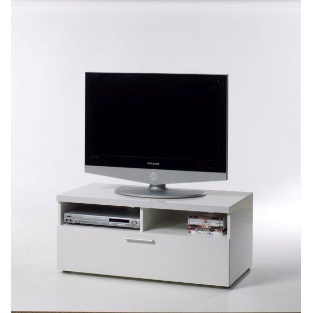 Nadja TV møbel 1 skuffe og 2 rum hvid.