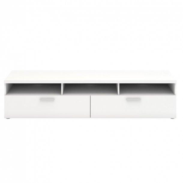 Nadja TV møbel 2 skuffer og 3 rum hvid.