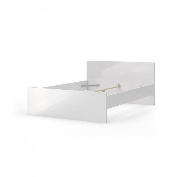 Nada seng 140 * 190 cm hvid højglans.