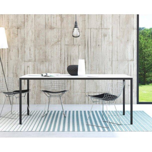 Fall spisebord 90 * 180 cm hvid og sort.