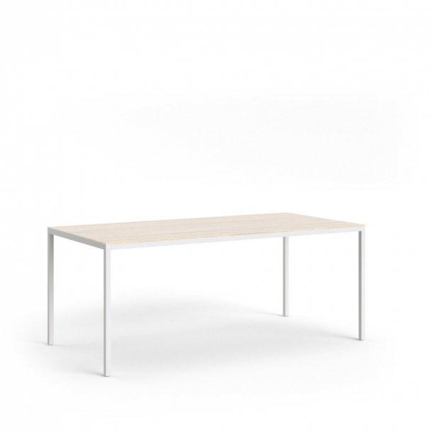 Fall spisebord 90 * 180 cm eg struktur og hvid.