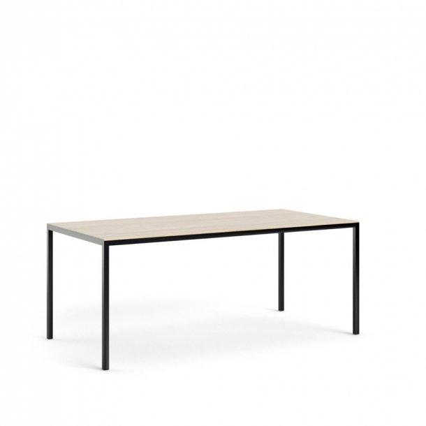 Fall spisebord 90 * 180 cm eg struktur og sort.