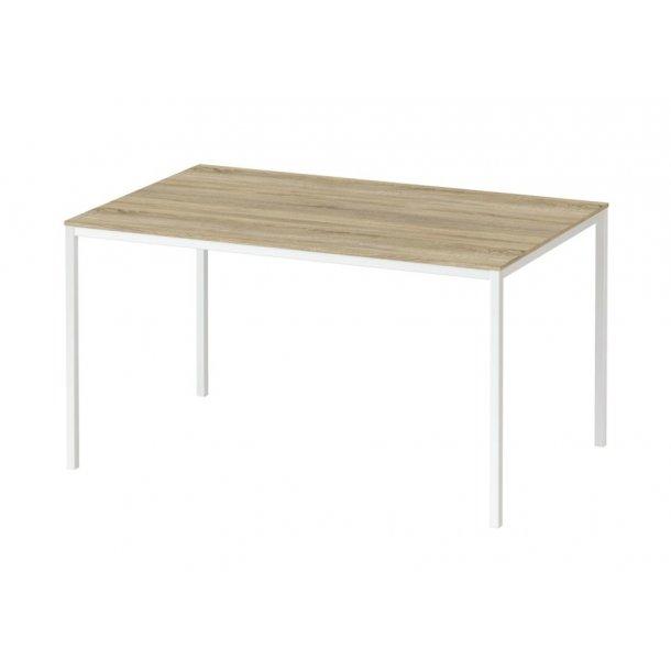 Fall spisebord 90 * 140 cm eg struktur og hvid.