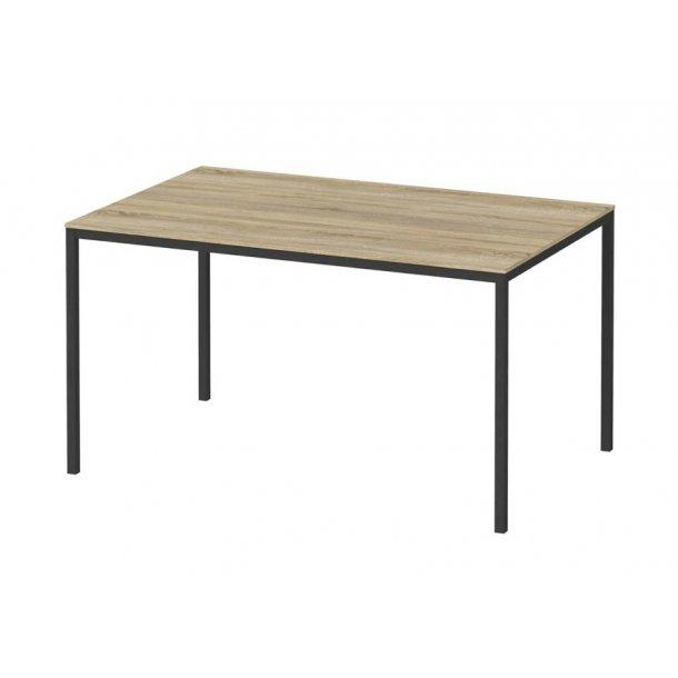 Fall spisebord 90 x 140 cm eg struktur dekor og sort.