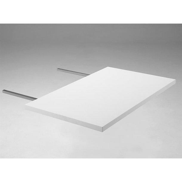 Mocca tillægsplade 60 x 90 cm i hvid, 1 stk.