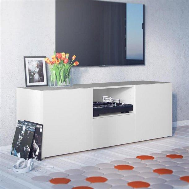 Collect Tv skænk med 1 hylde, 1 skuffe og 2 låger i hvid.