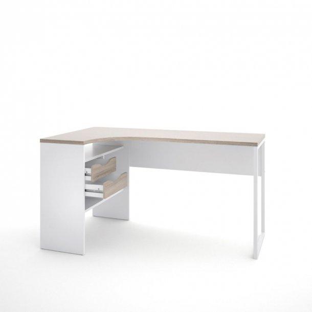 Fula skrivebord 2 skuffer hvid og trøffel farvet.