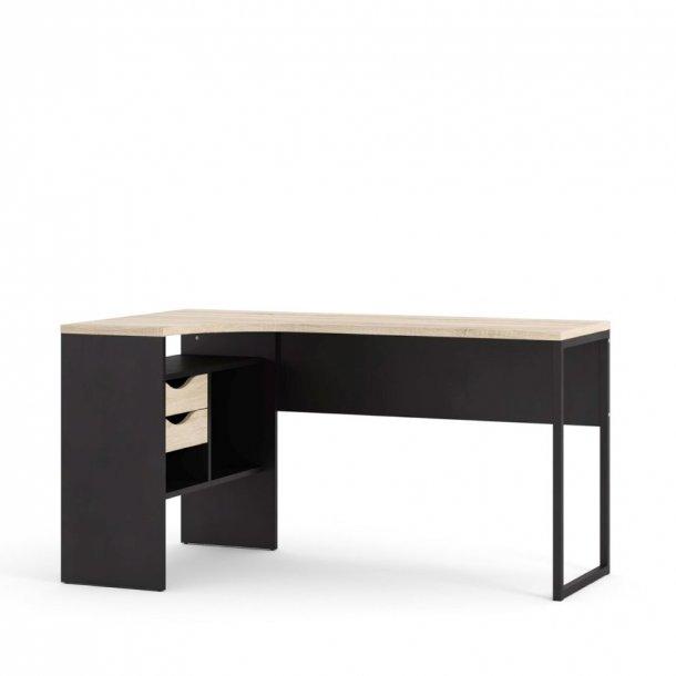 Fula skrivebord sort mat og eg struktur.