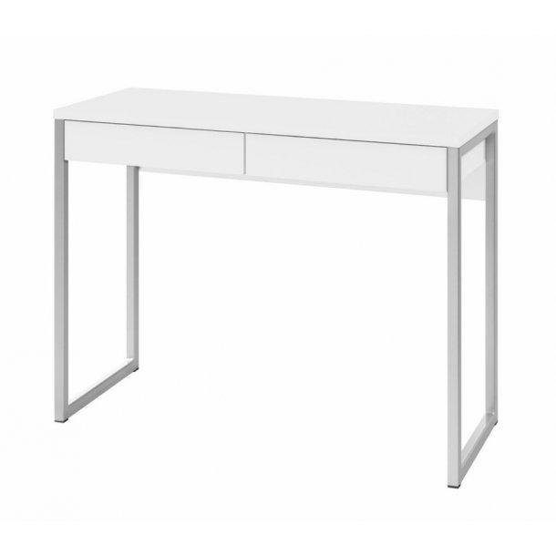 Fula skrivebord 2 skuffer hvid højglans.