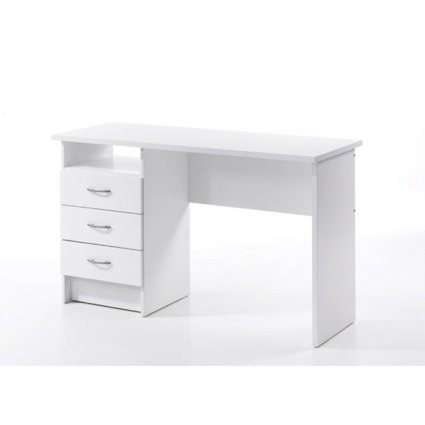 Fula skrivebord 3 skuffer hvid.