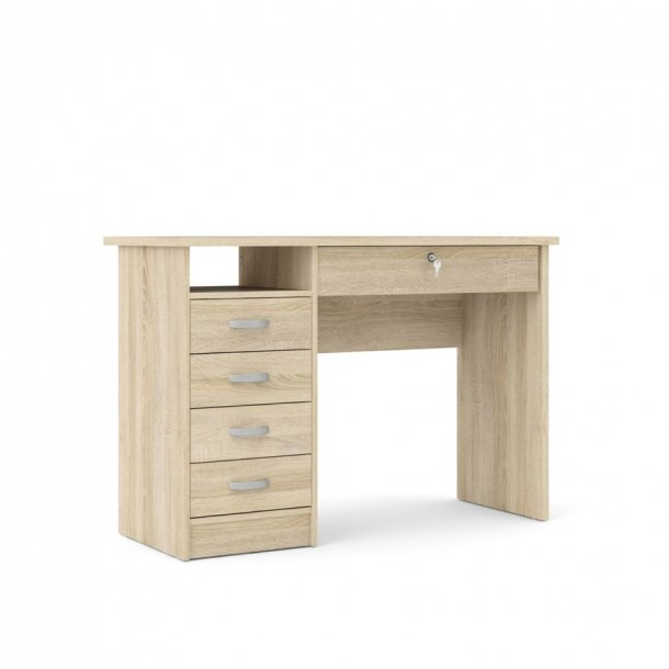 Fula skrivebord 5 skuffer eg struktur dekor.