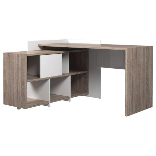 Fula skrivebord trøffel farvet og hvid.