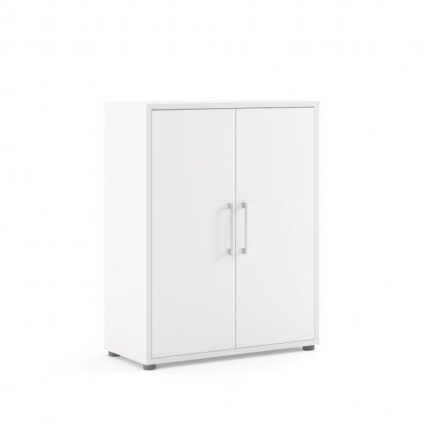 Prisme kontorarkiv 2 låger hvid.