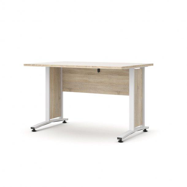 Prisme skrivebord B eg struktur dekor og hvid.