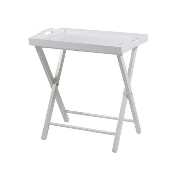 Vasa bakkebord lakkert hvit.