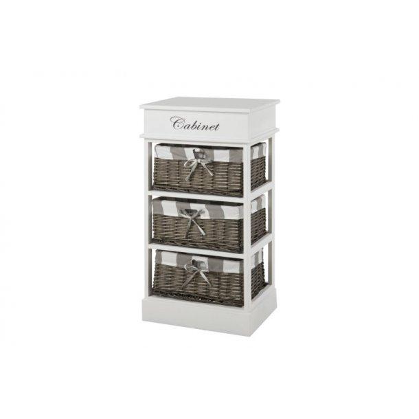 kommode carpe in wei mit 3 grauen k rben zur aufbewahrung bestellen sie hier. Black Bedroom Furniture Sets. Home Design Ideas