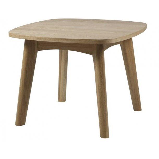 Martha hjørnebord med afrundede hjørner ege dekor.