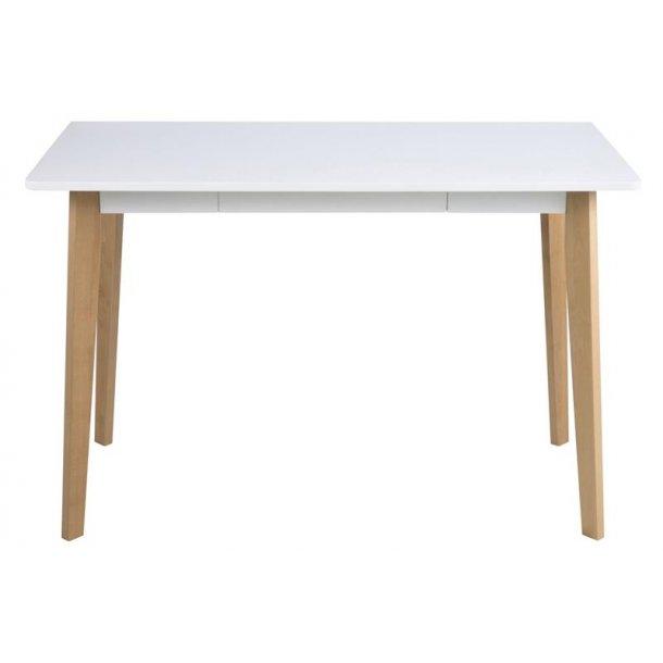 Riko skrivebord med 1 skuffe i hvid.