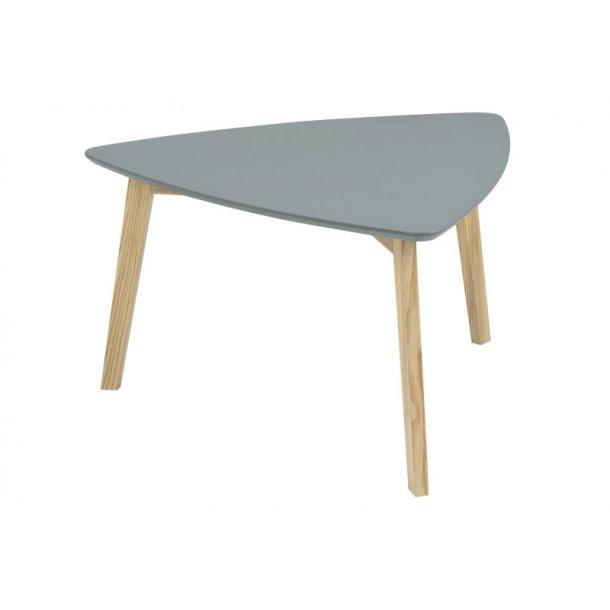 Sofabord Vips grå med ben i massiv ask.