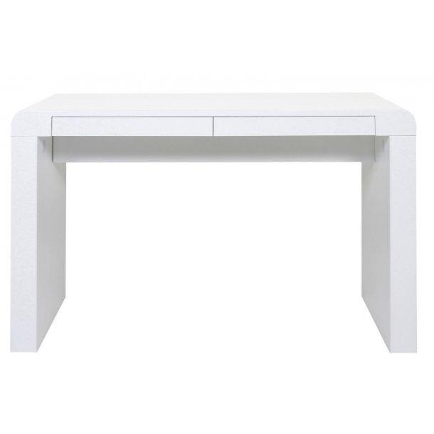 Skrivebord Cliff med 2 skuffer i hvit høyglans.