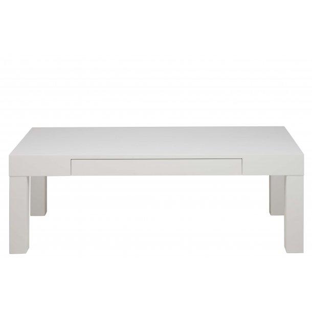 Angora sofabord  med 1 skuffe 60 x 120 cm hvid.