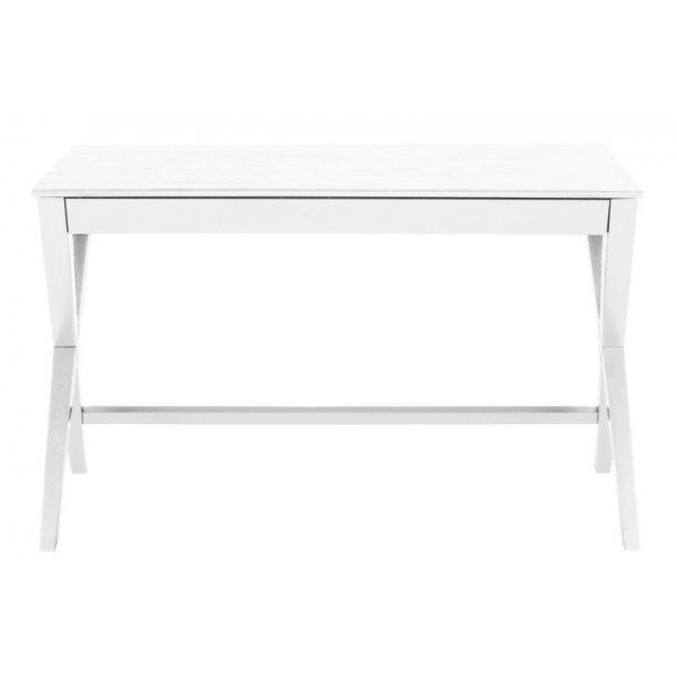 Wall skrivebord med 1 skuffe i hvid.