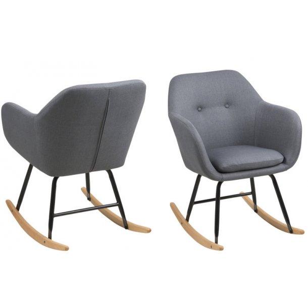 Emil gyngestol i moderne design i mørk grå.