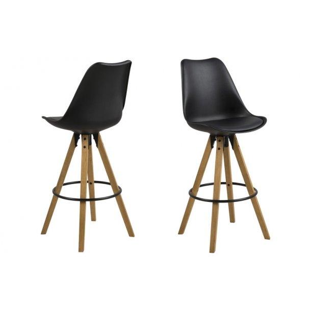 Dry barstol som skalstol i sort.