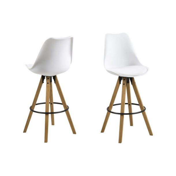Dry barstol som skalstol i hvid.