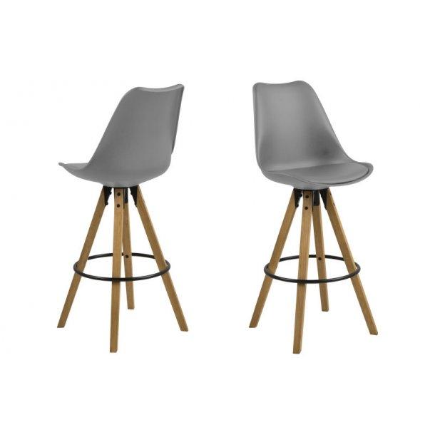 Dry barstol som skalstol i grå.