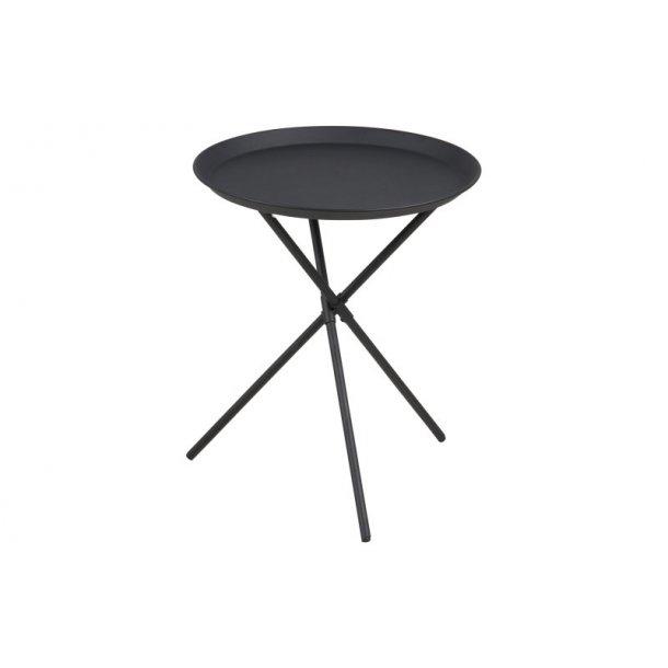 Clips hjørnebord i metal sort pulverlakeret, Ø 38,5 cm.