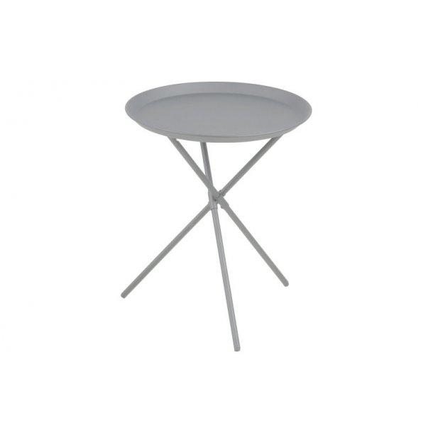 Clips hjørnebord i metal grå pulverlakeret, Ø 38,5 cm.