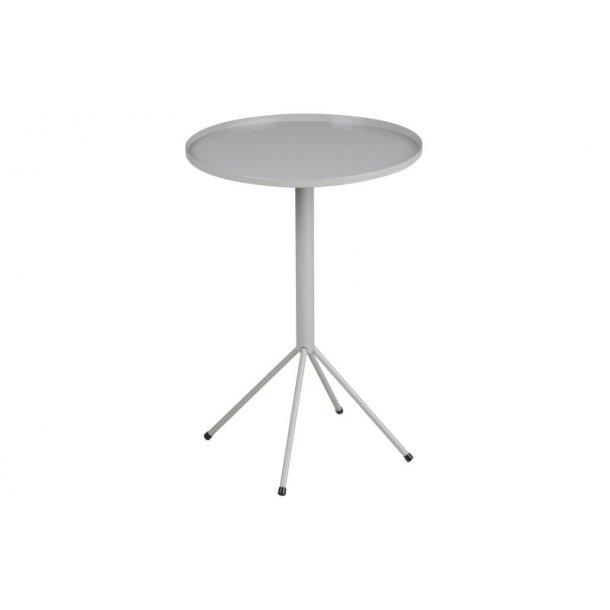 Wave hjørnebord i metal grå pulverlakeret, Ø 35 cm.