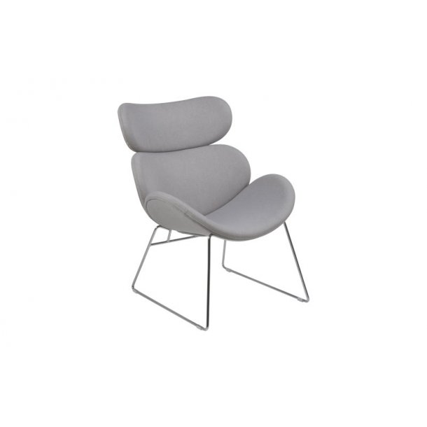 Cazy lænestol i lys grå.