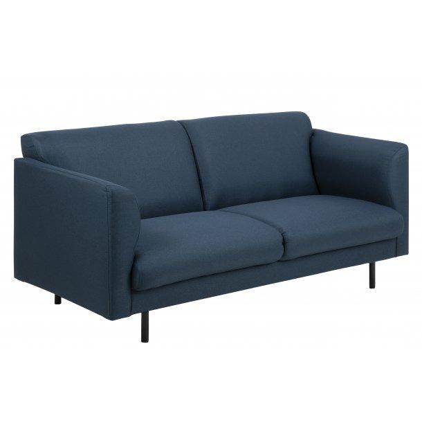 Cone sofa 2 personers i mørkeblå stof.