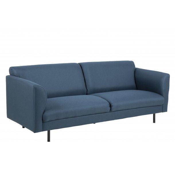 Cone sofa 3 personers i mørkeblå stof.