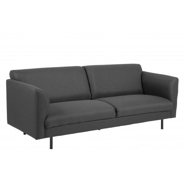 Cone sofa 3 personers i mørkegrå stof.