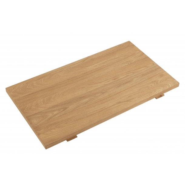 Brent tillægsplader 2 stk. 50x90 cm, eg.