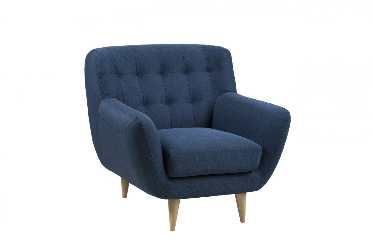 Osmund lenestol mørk blå, natur. Kjøp nå og få levert på døren.