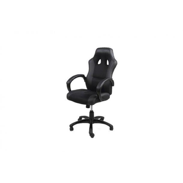Ravn kontorstol, gamer stol med armlæn og tilt funktion i sort.