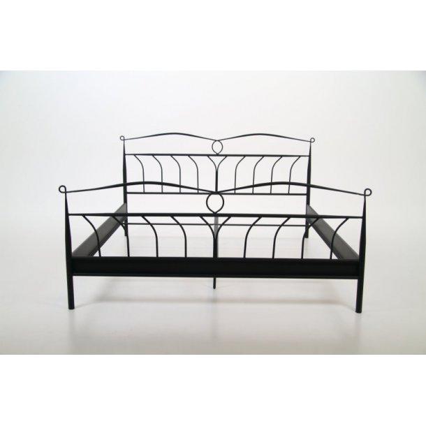 Metallseng Linax 180 x 200 cm i svart til rammemadrass