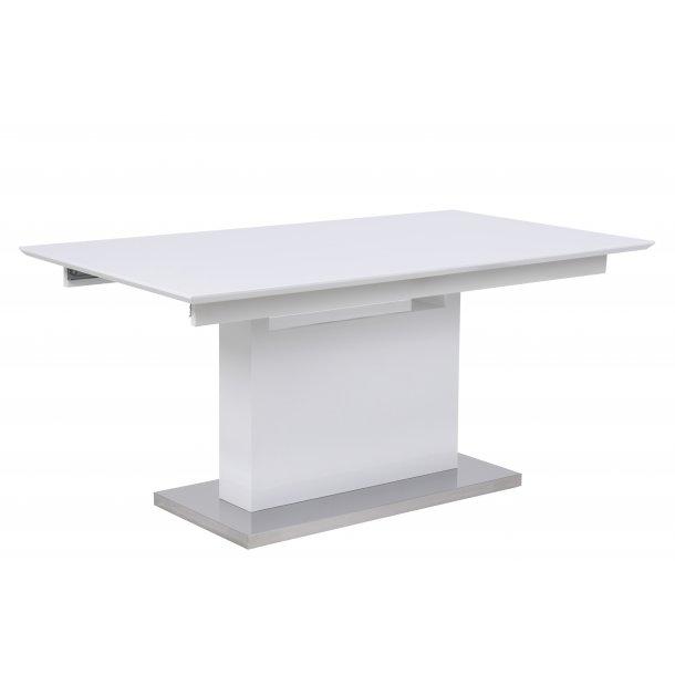 Trala spisebord med udtræk 90x160/220 cm i hvid højglans.