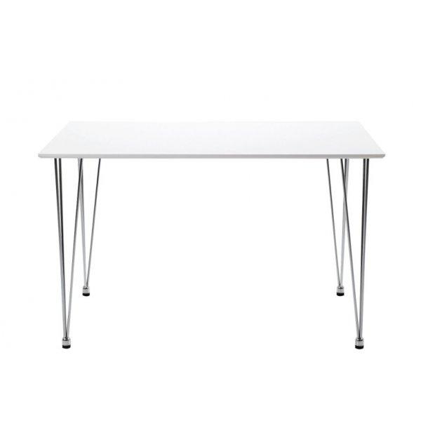 Spisebord Lorry 120 cm i hvid med chrome ben.
